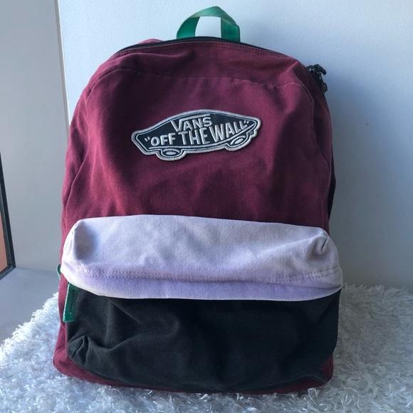 9c624e0a7c1 Vans Burgundy   Lavender Colorblock Backpack. M 5c4a760d4ab633ae29d81ea9